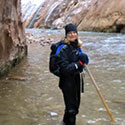 Winter Hiking in The Narrows, Zion National Park