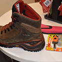 hiking boots incorporate emergency fire-starting kit